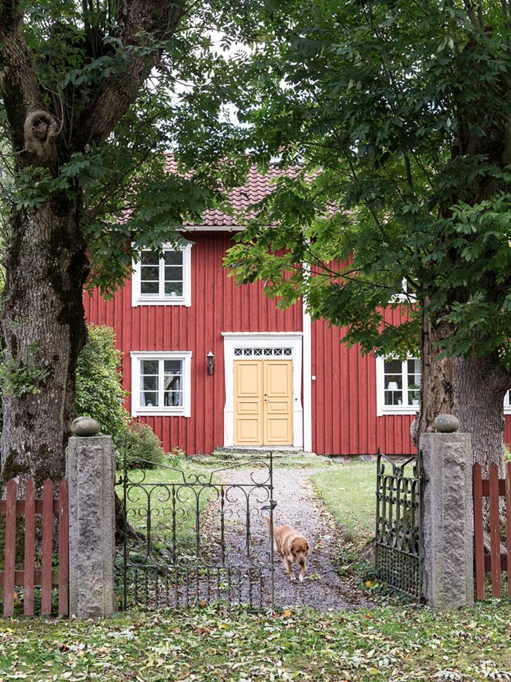 Милая деревня: красивый дом …