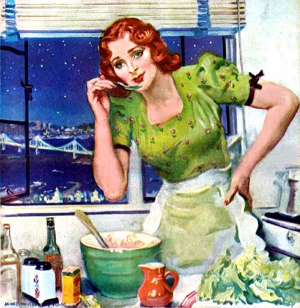 Хозяйка на кухне картинка смешная