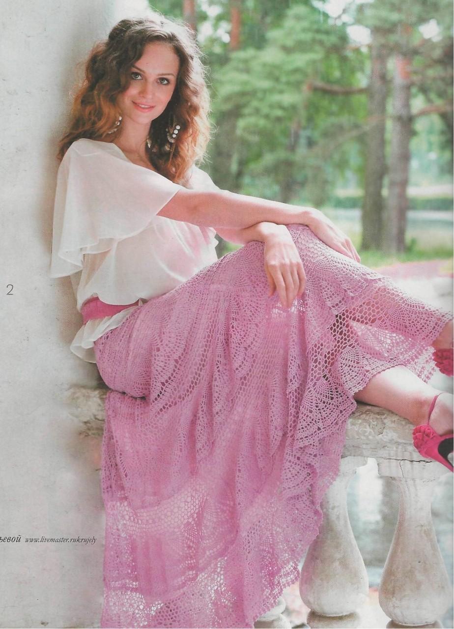 Шикарная ажурная юбка крючком