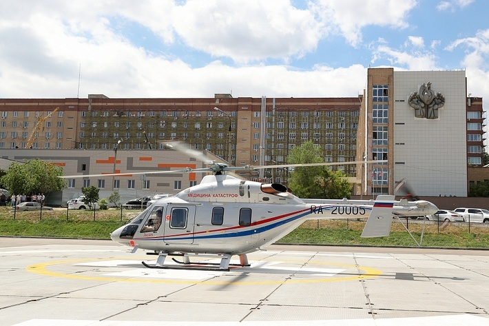 Волгоградская область первой в России получила вертолет санавиации «Ансат»