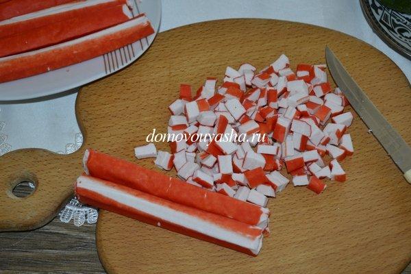 Салат с ананасом и крабовыми палочками рецепты