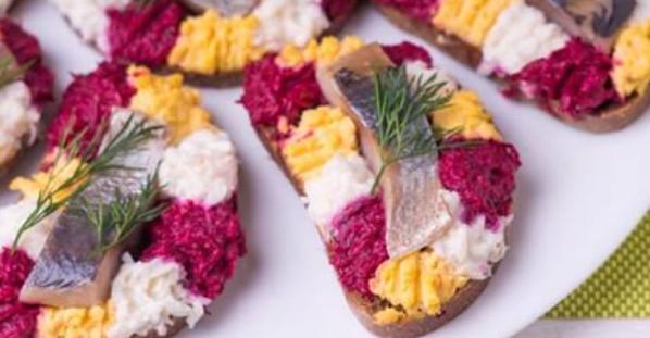 Три вида самых легких и вкусных бутербродов на праздничный стол...