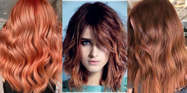 Модные цвета волос 2019года: подсвеченный красный