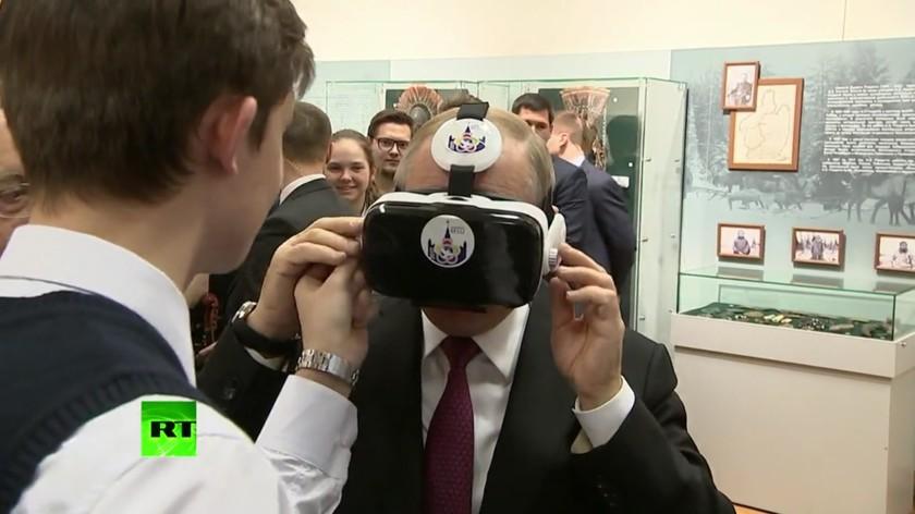 Путин побывал в виртуальном мире