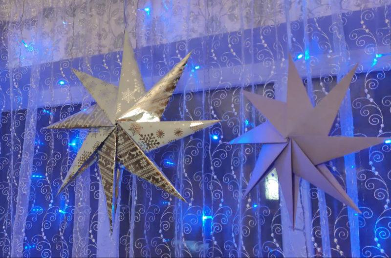 Новогоднее украшение, которое удобно хранить: звезда как из Икеа интерьер,переделки,рукоделие,своими руками,сделай сам