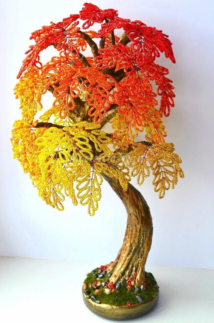original Доброго дня всем))) Красное деревце из бисера.Моя новая краса=)
