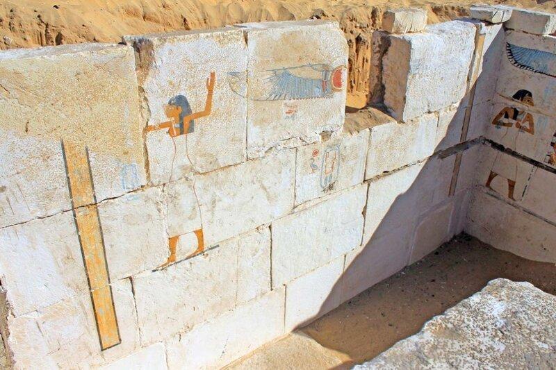 Роспись на стене погребальной камеры археология, древний египет, интересно, история, наука