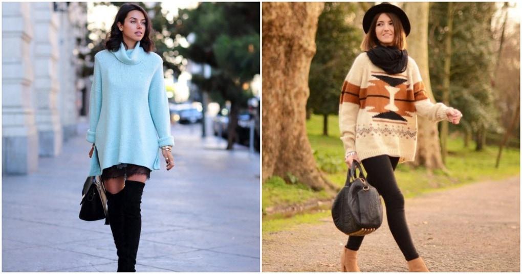 Уютный свитер оверсайз: лучшие модные образы этой осени