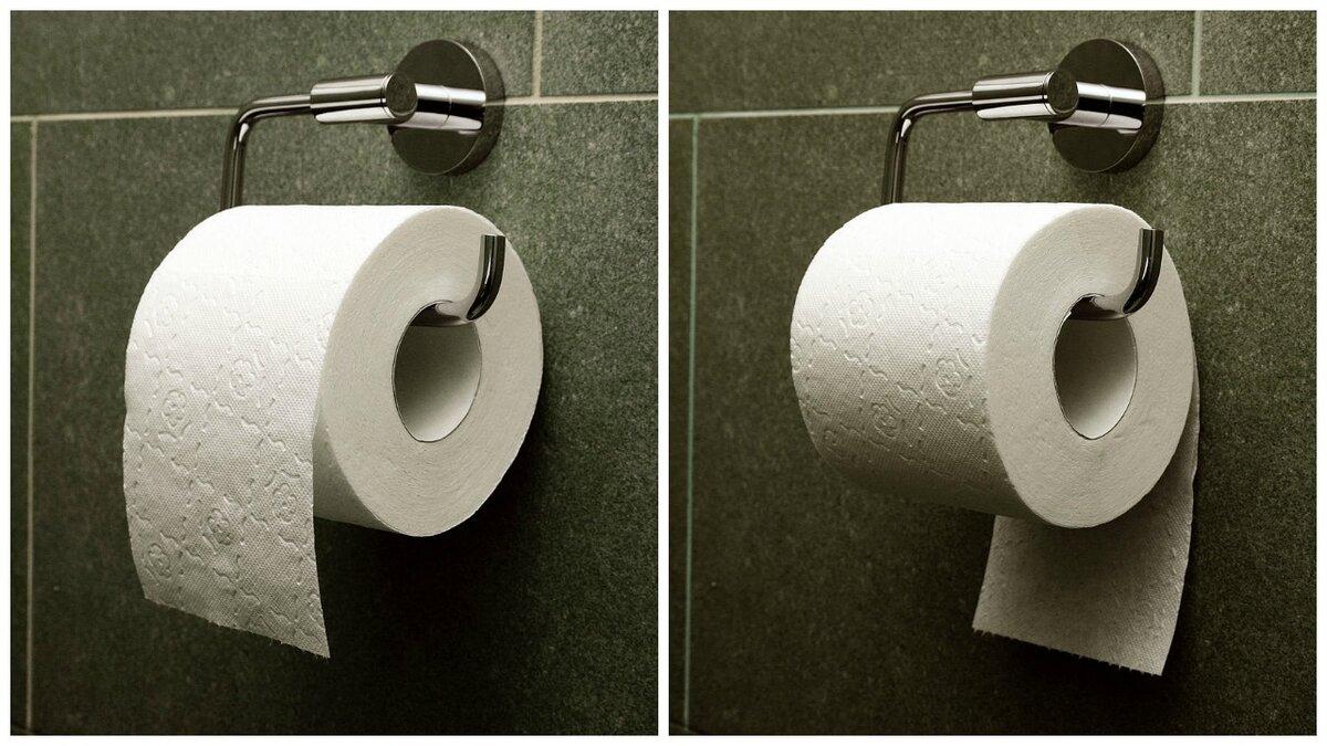 Учимся правильно вешать туалетную бумагу