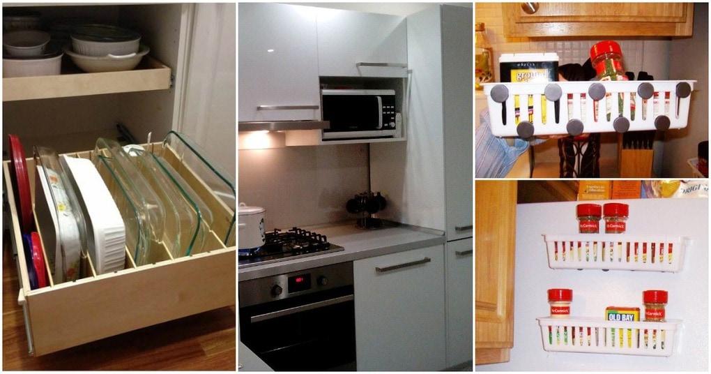 Без особых затрат вы сможете сделать свою кухню более просторной и аккуратной