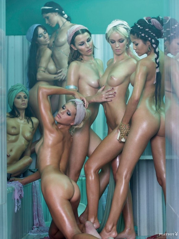 Playboy harem girls, luba nude model
