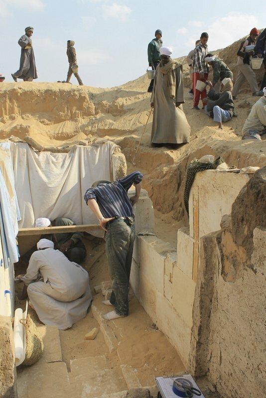 Раскопки гробницы археология, древний египет, интересно, история, наука