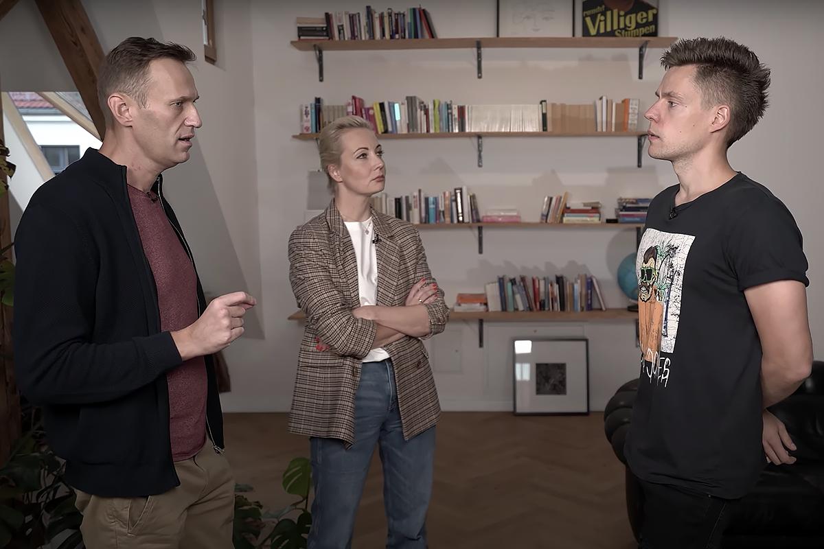 Навальный рассказал Дудю подробности его отравления