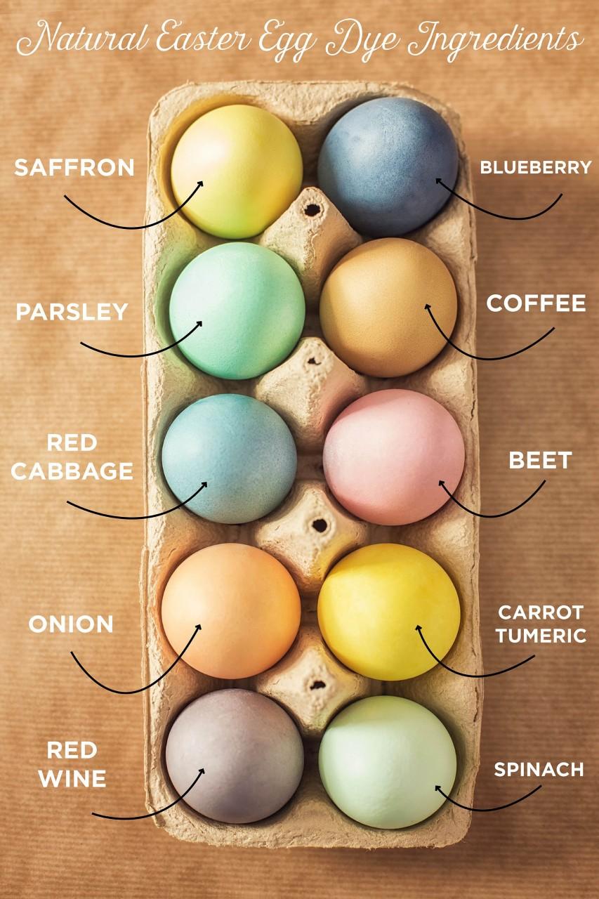 Натуральные красители для яиц из того, что есть на каждой кухне