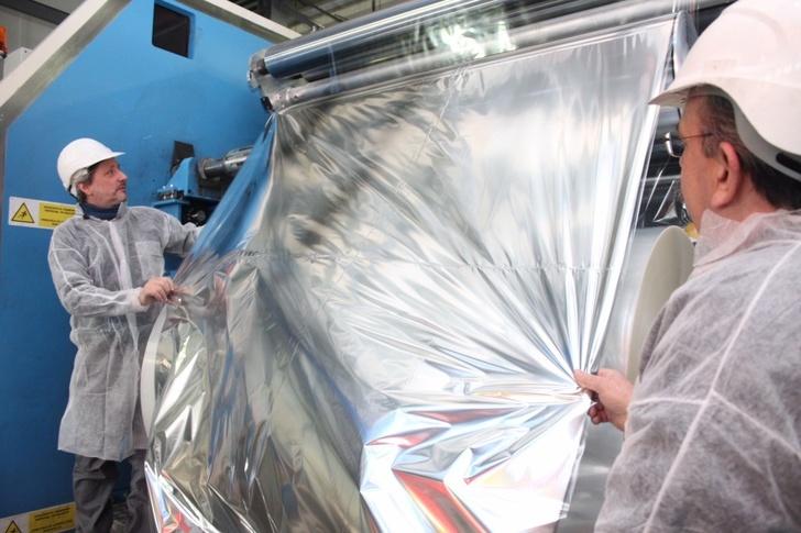На томской площадке «БИАКСПЛЕНа» приступили к выпуску металлизированной пленки