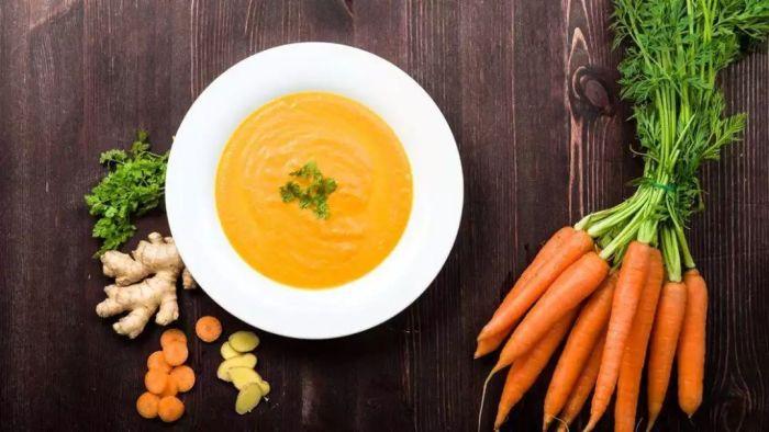 Морковный суп-пюре с апельсинами.  Фото: sohu.com.