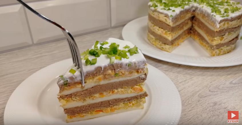 Сочный, нежный, вкусный Закусочный Торт
