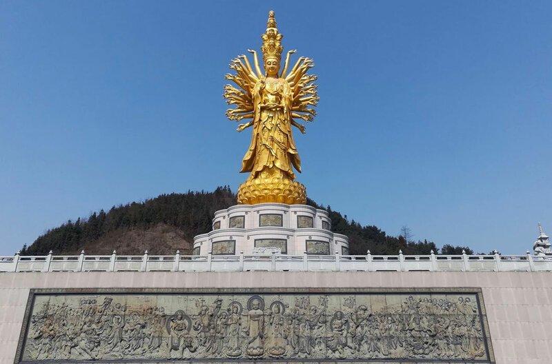 Тысячерукая Гуаньинь, китайская богиня милосердия. Высота монумента — 99 м в мире, высота, красота, люди, памятник, подборка, статуя, факты