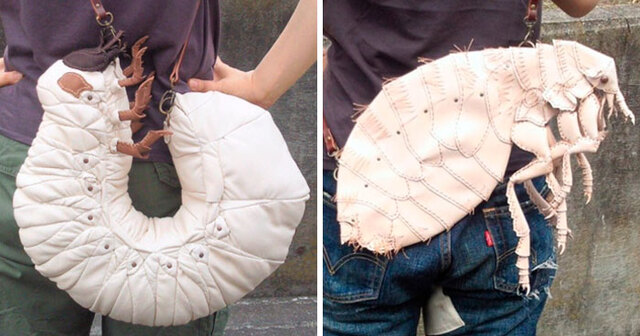 Необычные сумки в виде сороконожек, пауков и других животных от японского дизайнера