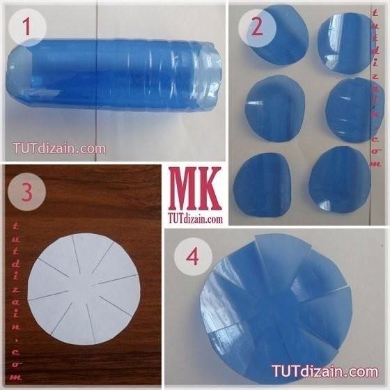 Васильки из пластиковых бутылок: мастер-класс мастер-класс,поделки,сделай сам