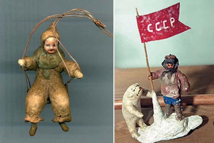 Ватные елочные игрушки 1930-х годов