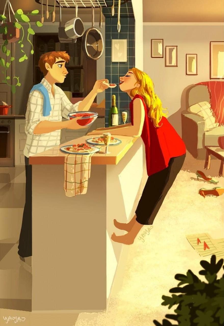 Как выглядит любовь: 17 иллюстраций, пропитанных теплом и заботой иллюстрация