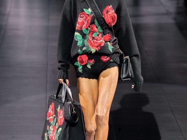 Dolce & Gabbana FW 2020 — тренд на крупную вязку