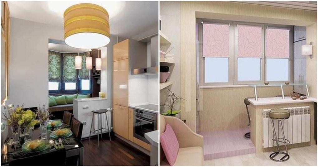 Кухня с балконом: уютное обустройство и практичный дизайн