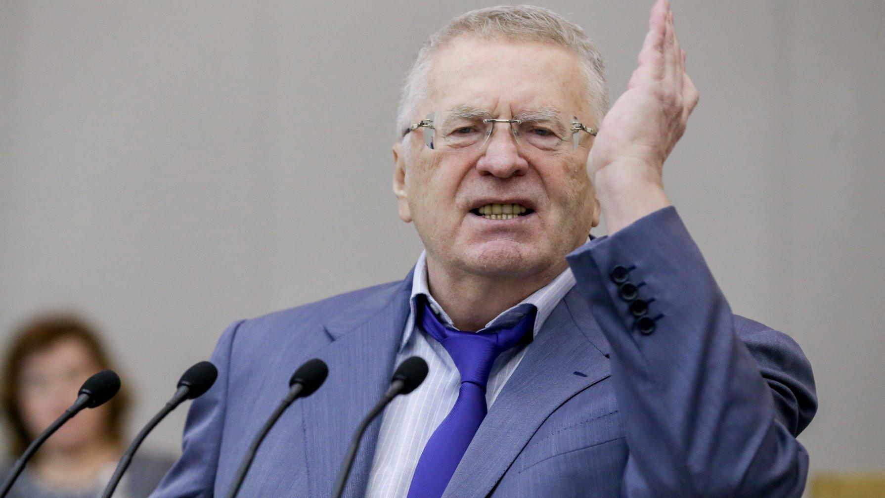Жириновский в знак протеста …
