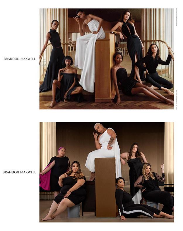 Женщины с пышными формами воссоздали модную рекламу