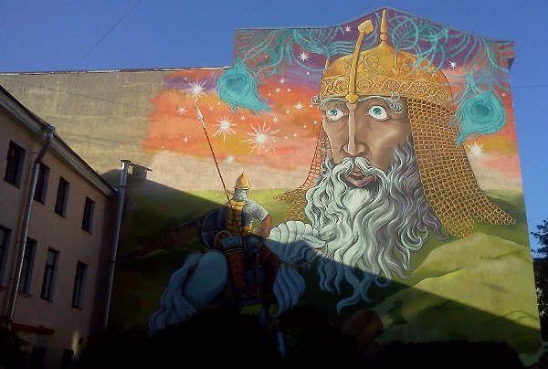 Граффити от питерских уличных художников
