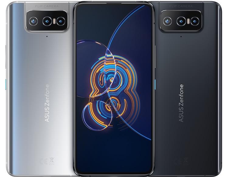 ASUS представила флагманский смартфон Zenfone 8 Flip с откидной тройной камерой