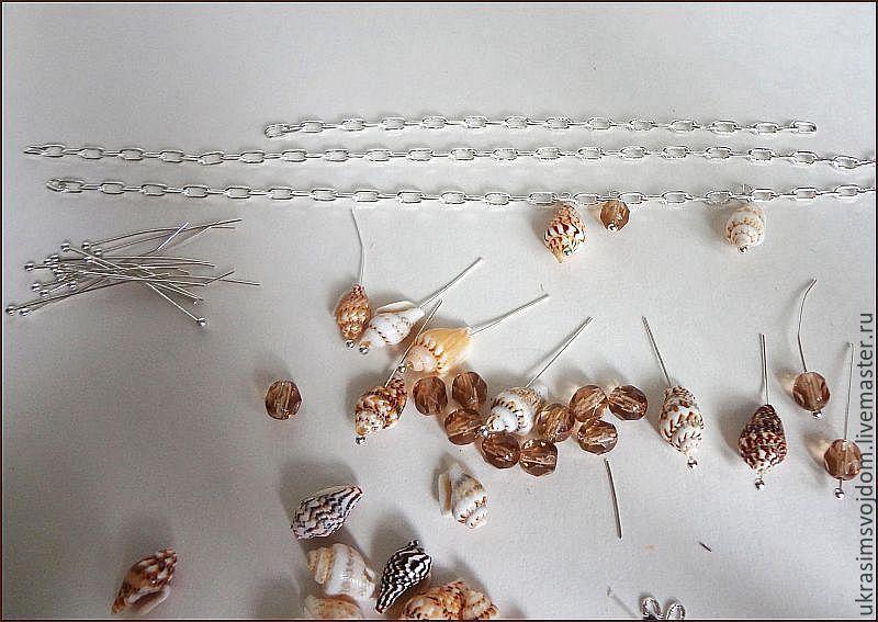 браслет из ракушек