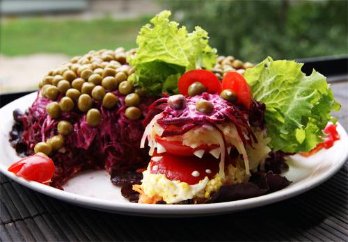 Новогодние салаты 2012 : салат «Дракончик»