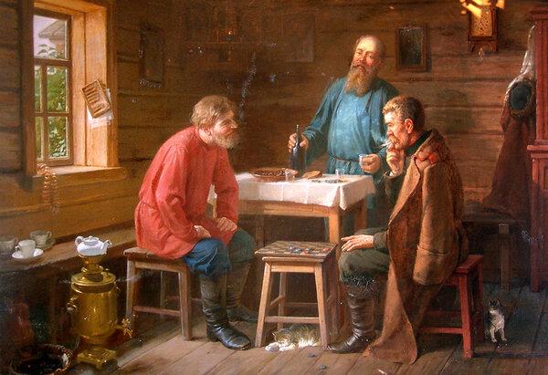 Игра в шашки. 1880-е. Пермский художественный музей