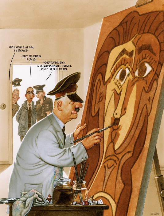 Провокационные карикатуры, которые довели до тюрьмы художника Герхарда Хадерера арт,Герхард Хадерер (gerhard haderer),карикатуры,общество,сатира,художник