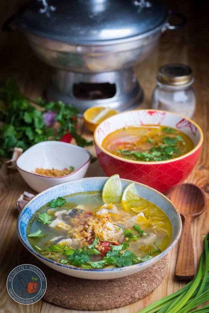 Простой рыбный суп в вьетнамском стиле