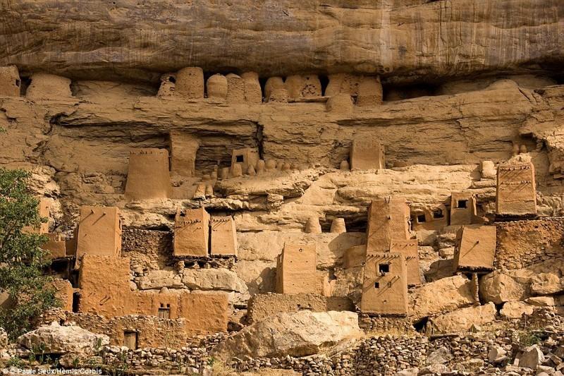 7. Обрыв Бандиагара, Мали. деревни, мир, невидимки, природа, фото