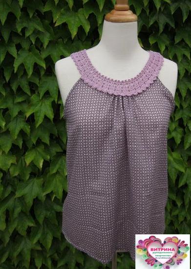 Если скомбинировать вязание и ткань, можно создать своими руками неповторимые наряды на лето! handmake,вязание,поделки своими руками,шитье