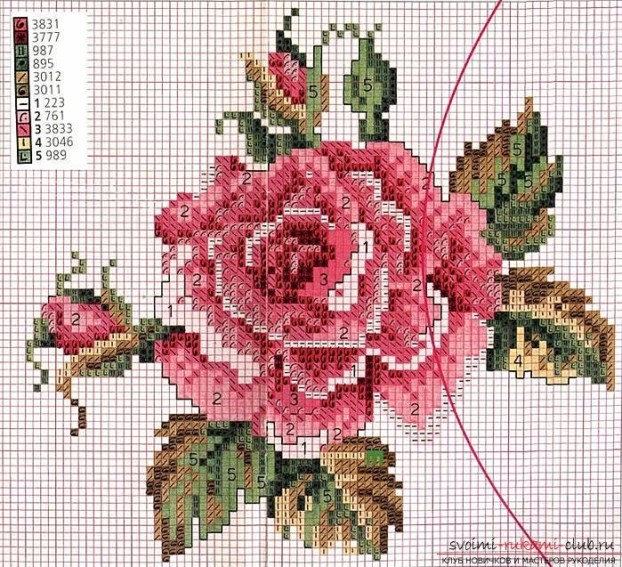 Схемы для вышивки крестом — прекрасные розы