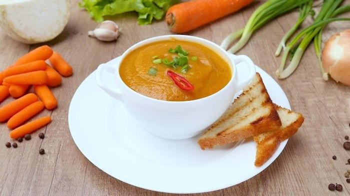 Суп-пюре из моркови.  Фото: sovkusom.ru.