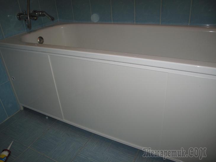Установка экрана в ванной комнате,своими руками