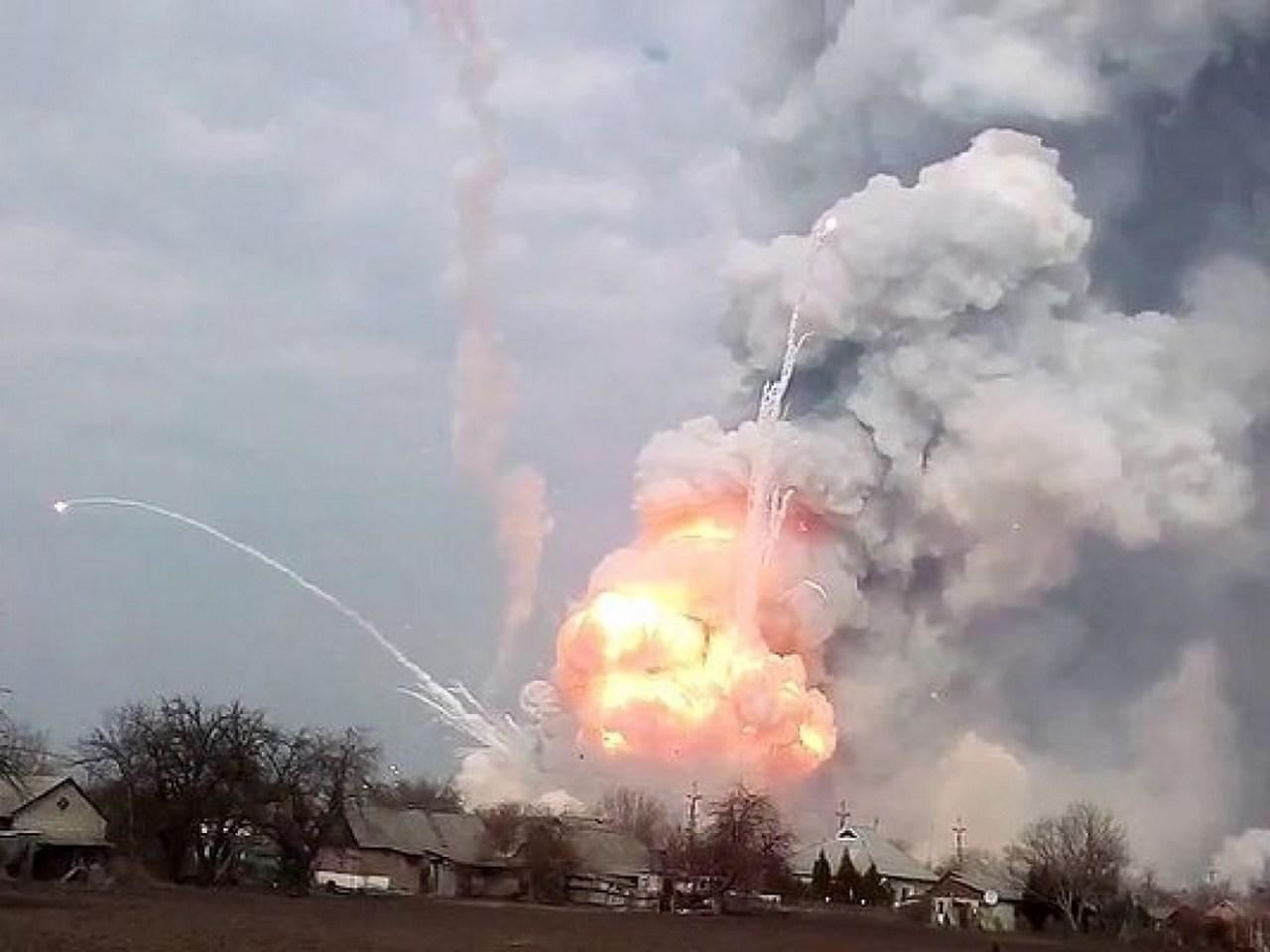 Пожар на 47-м арсенале боеприпасов ВСУ в Ичне скрыл следы воровства