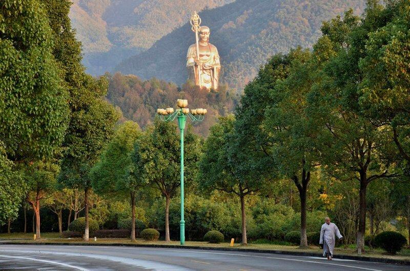 76-метровая бронзовая статуя. Аньхой, Китай в мире, высота, красота, люди, памятник, подборка, статуя, факты