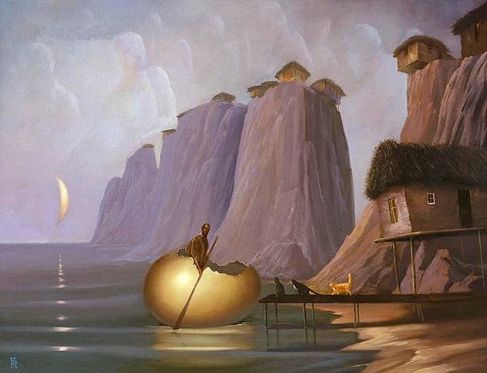 Философия подсознательного на картинах современного российского сюрреалиста Виктора Брегеда