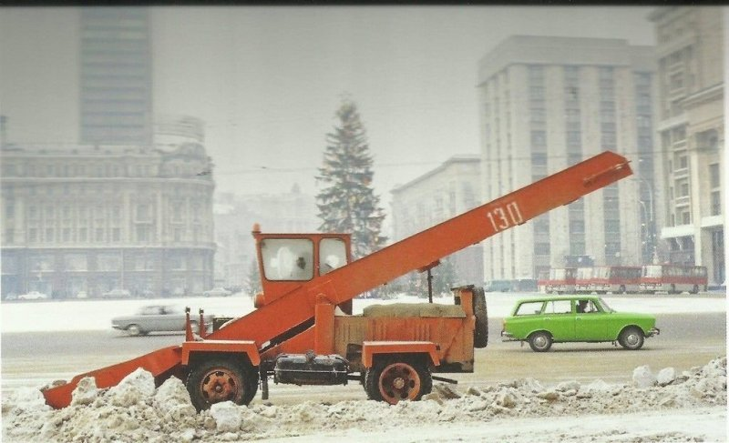 Уборка снега в Москве 70-х