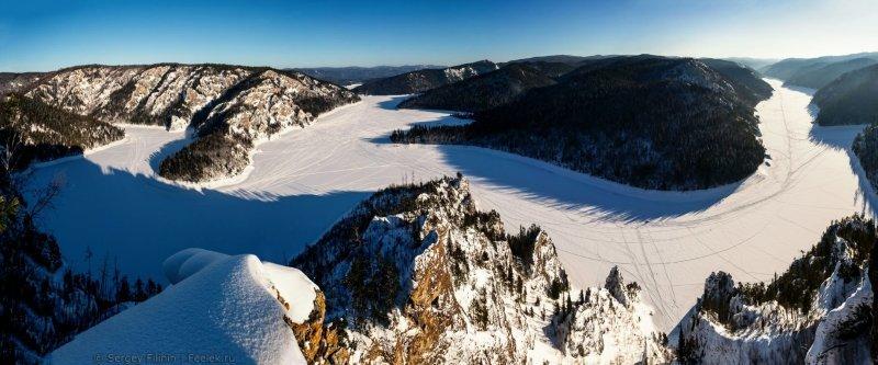 Панорама с вершины. Красноярский край, высота, гора, красноярск, пейзаж, пещера, природа, фото
