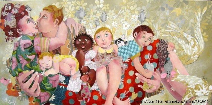 Женское счастье - муж, дети, внуки, семья... даже животные, и те счастливы…