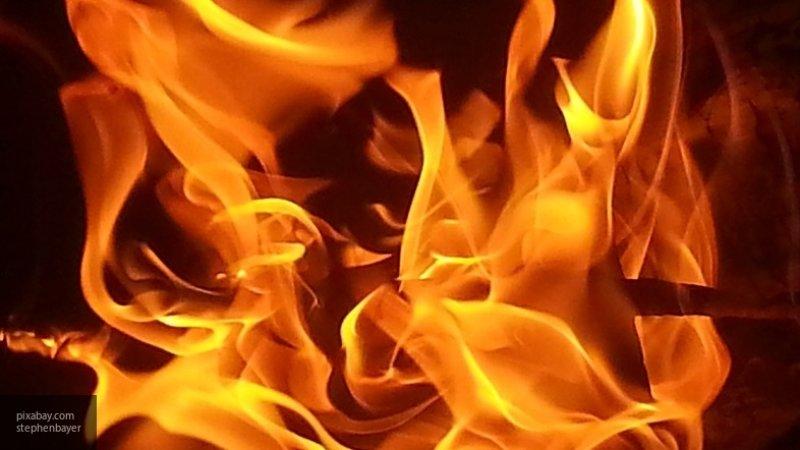 Охваченный огнем ТЦ в Грозном попал на видео