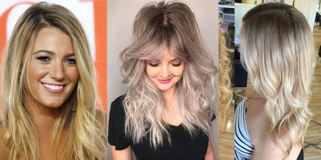 Модные цвета волос 2019года: грязный блонд